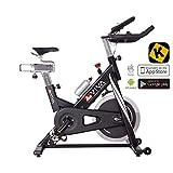 AsVIVA Indoor Cycle Speedbike S14 Bluetooth | inkl. SPD Klickpedale & Brustgurt (Pulsgurt) | 23kg...