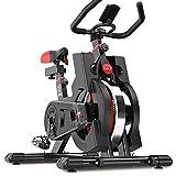 Dripex Heimtrainer, Fitnessbikes Ergometer mit Schutzhülle, Pulsmesser, stufenlose...