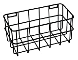 Rayher 25187576 Drahtkorb, 16,5 x 8 x 8 cm, schwarz, Wandregal, Metallregal, Aufbewahrungsbox,...