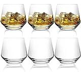 [6-Pack, 380ml/12.9oz] Design·Master – Premium Whiskey Gläser, Rock Style altmodische Gläser...