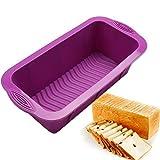 Silikon-Brot-Form, Toast Pan Kuchenform Bakeware Easy Release Und Backen-Form Fr Hausgemachte...