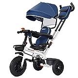 Tricycle 4 In 1 Kinderwagen Dreirad, Leichtes Kinderdreirad Fahrrad, mit Verstellbarem Griff,...