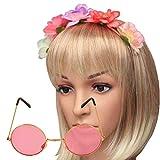 Islander Fashions Hippie Hippie Blumen Gänseblümchen 60s Frieden Festival Kostüm Accessoire (Pink...