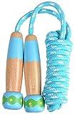 Kinder Seil Springen Nicht Giftig Außen Verstellbar Weich Sprungseil mit Hautfreundlich Holz Griffe...