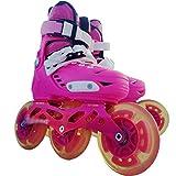 XIHAI Inline Skates Verstellbare blinkende Eisschnelllaufschuhe für Kinder inliner Damen pu...