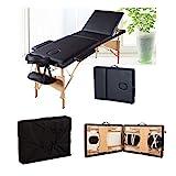 Mobile Massageliege Massagetisch Klappbar Massagebett Massagebank mit 3 Zonen höhenverstellbaren...