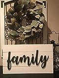CELYCASY Familienschild mit Überfall, rustikal, Landhaus-Stil, Vintage-Stil, Holz-Dekoration, zum...