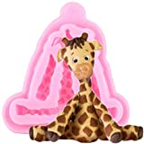 ZHQJY 3D Tiere Silikonformen Giraffe Fondant Schokoladenform Kuchen Dekorationswerkzeuge Keks Backen...