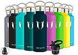 Super Sparrow Trinkflasche Edelstahl Wasserflasche - 750ml - Standardmund Isolierflasche mit...