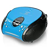 Lenco SCD24 - CD-Player für Kinder - CD-Radio - Stereoanlage - Boombox - UKW Radiotuner - Titel...