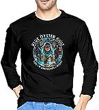 Thimd Girls Blue Oyster Cult Herren Komfort Weiche Langarm Outdoor T-Shirt 100% Baumwolle Druck...