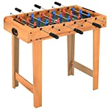 Tidyard Mini-Kickertisch Tisch Fußballtisch 69 x 37 x 62 cm für Heimspiele, Spielhallen...