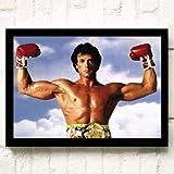 XWArtpic Retro Klassische Hollywood Movie Star Wandkunst Schwarzenegger Stallone Muskulösen Mann HD...