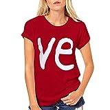 KPILP Herren Damen Pärchen-Tshirts Couple T Shirts Set Geschenke für Paar Love Heart Shaped Mr. &...