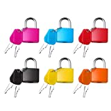 nuoshen 6 Stücke Kofferschloss mit Schlüssel, Mini Vorhängeschloss mit Schlüssel Gepäckschloss...