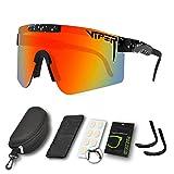 CWWHY Sport Sonnenbrille, Polarisierte Sonnenbrille, Winddichte Staubdichte Brille Für Den...