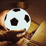 Fußball Nachtlicht für Kinder, Fußballspielzeug Geschenk für Jungen, USB wiederaufladbare Kinder...