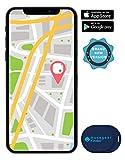 musegear Schlsselfinder Mini mit Bluetooth App I Keyfinder laut fr Handy in dunkelblau I GPS...