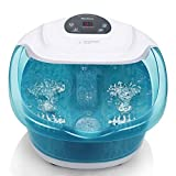 MaxKare Fußbad Massagegerät Fussbadewanne mit Massage mit Heizung mit Wasser, Elektrisches...