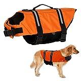 Warmiehomy Hundeschwimmweste Schwimmweste für Hund Reflektierend Rettungswesten Schwimmtraining...