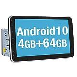 Vanku Android 10 Autoradio mit Navi 64GB+4GB 10 Zoll Unterstützt Qualcomm Bluetooth 5.0 DAB +...