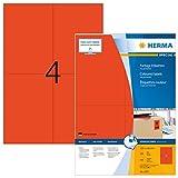 HERMA 4397 Farbige Etiketten DIN A4 (105 x 148 mm, 100 Blatt, Papier, matt) selbstklebend,...