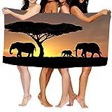 AGHRFH Strandhandtuch, 79 x 130 cm, weich, leicht, saugfähig, für Bad, Schwimmbad, Yoga, Pilates,...