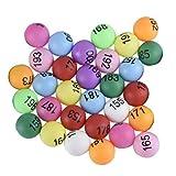 Toyvian 100 Stücke Bingo Bälle Kunststoffkugeln Verlosungen Tischtennisbälle für Bingo Käfige...