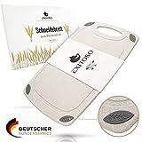 Exitoso® Das Original I Schneidebrett aus Weizenstroh Zero Waste I Plastikfrei mit Saftrille und...