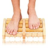EKKONG Holz Fußroller, Fußmassageroller, Fuß Massage für Stressreduzierung, Krämpfen, Arthrose,...