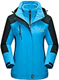 TACVASEN Hardshelljacken Damen Winter Wasserdicht Jacke Fleece Gefüttert Jacken Outdoor Wanderjacke...