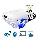 Link Co Projektor Native 1080P Klug Android Projektor Tragbar Videoprojektor mit Duale Lautsprecher...