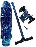 YELVQI Longboard, 26 Zoll komplette Mini-Cruiser Skateboard for Erwachsene Kinder Anfänger Mädchen...