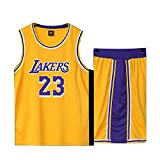 Basketball Trikot für Lebron Raymone James No.23 Lakers Fans Basketball ärmellose Anzug Kinder...