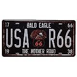 USA R66 Vintage Nummernschilder Digital Metal Sign Blechschild Blechschild fr Pubs, Bars, Shops