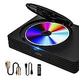 Hegomn Kompakt DVD Player für TV, Alle RegionKostenlos Home DVD Player mit HDMI Kabel und Remote