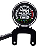 ZLININ Universalmotorrad Modified Multifunktions-LED Digital Meter Leuchtanzeige Tachometer...