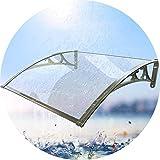 LPD-Vordach Überdachung Haustürvordach Allwetter-Stabilität Polycarbonat Fenstermarkise 2...