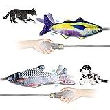 Tosiicop katzenspielzeug Fisch 2er Pack interaktiver Fisch spielsachen realistische katzenspielzeug...