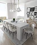 Home Innovation- Konsoletisch, Esstisch ausziehbar bis 237 cm, Esszimmertisch und Wohnzimmertisch,...