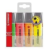 Textmarker - STABILO BOSS ORIGINAL - 4er Pack - gelb, orange, grün, pink