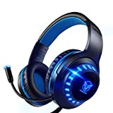 Pacrate PC Gaming Headset für PS4, PS5, Xbox One, PC, Rauschunterdrückung,Over-Ear, PS4 Headset...