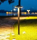 LED 12W Außen/Aussen-Leuchte Schwarz Wegeleuchte Runden IP44 Wasserdichte Outdoor Lighting...