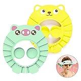 WELLXUNK® Duschhaube Kinder, Duschhaube Baby, Weiche Einstellbare Baby Duschhaube, mit Ohrenschutz...