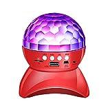 LloydBP Bunte Neon-Stadiums-Licht-Lautsprecher 360 drehender Kristall Magic Ball Wireless Mini-Karte...
