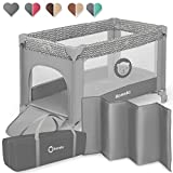 Lionelo Adriaa Laufstall Baby Baby Bett Reisebett Baby ab Geburt bis 15 kg Seiteneingang Lockguard...