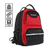 WORKPRO Werkzeugtasche Rucksack Backpack für Werkzeug Laptop mit wasserdichter Schutzboden...