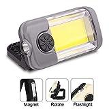YYSD Tragbares COB LED Arbeitsleuchte, Wiederaufladbare USB Akku Inspektionslampe mit Magnetischem...