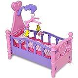 Carsparadisezone Kinderspielzeug Mädchen Spielzeug Puppenspielzeug Großes Puppenbett mit Kissen...