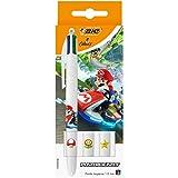 BIC Mario Kart Kugelschreiber, 4 Farben, einziehbar, mittlere Spitze (1,0 mm) – verschiedene...
